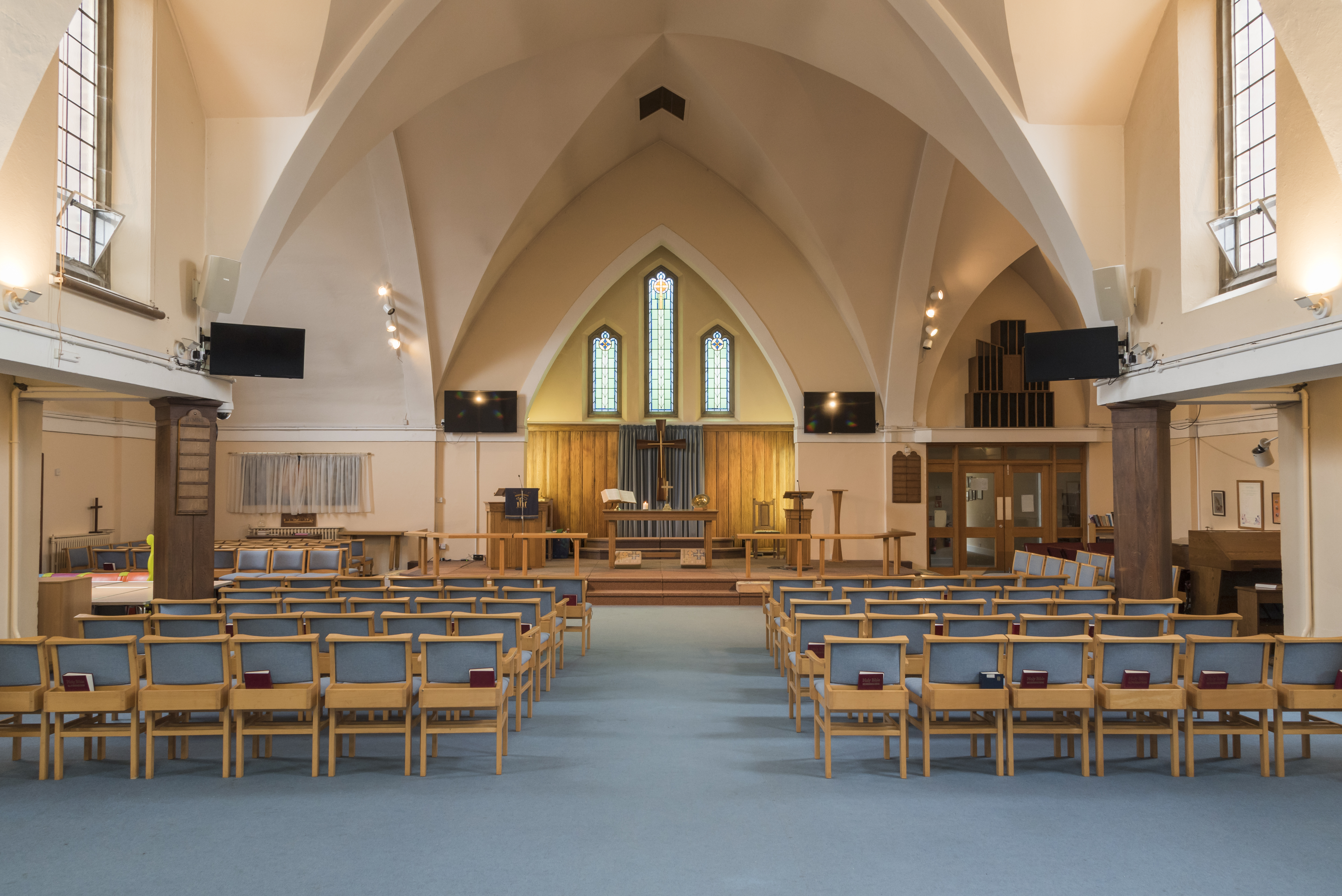 A more complete view of the sanctuary